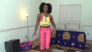 How to belly dance || whine (Congolese )