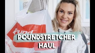 POUNDSTRETCHER HAUL | BUDGET CLEANING PRODUCTS, STORAGE, FOOD AND MORE!