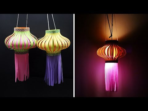 How to Make Paper Lantern for Diwali | Kandil Making | Diwali Decoration Ideas