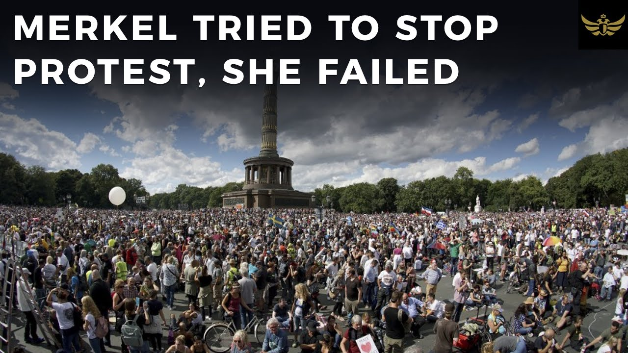 Merkel tried to stop Berlin protest, she failed. It was a massive turnout