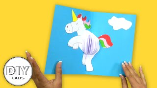 UNICORN Pop - Up Card | Fast-n-Easy | DIY Arts & Crafts for Parents