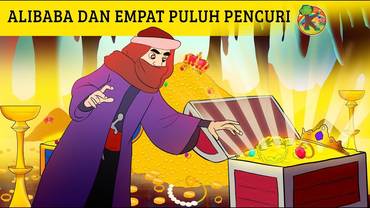 Alibaba dan Empat Puluh Pencuri   Cerita Kartun Anak Anak Bahasa Indonesia