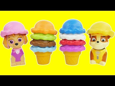 Paw Patrol Ice Cream Candy Preschool Toys Learn Colors with Best Kid Learning Video Game Skye Rubble
