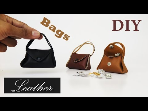 DIY Realistic Miniature Bags for Doll  - Barbie bag