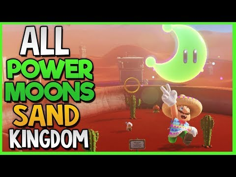 All Power Moon Locations in Sand Kingdom in Super Mario Odys
