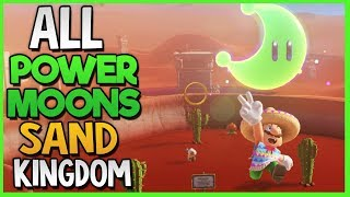 All Power Moon Locations in Sand Kingdom in Super Mario Odyssey