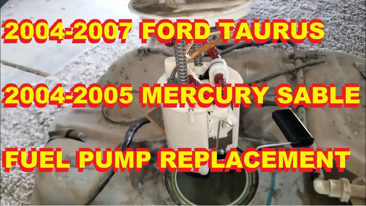 medium resolution of 2004 2005 2006 2007 ford taurus mercury sable fuel pump replacement