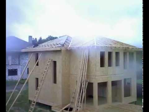 видео: Строительство двухэтажного загородного СИП (sip) дома за 3 недели timelapse