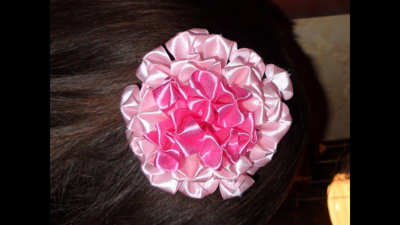 Как сделать красивые бантики из атласной ленты для волос