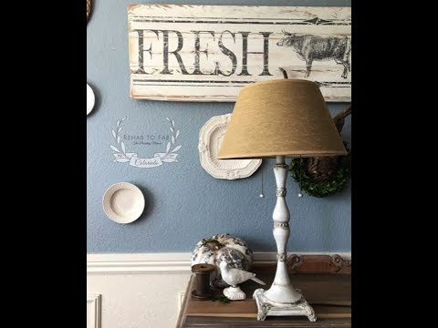 Lamp Makeover by Stephanie Coon on Facebook Live