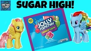 My Little Pony, Rainbow Dash, Pinkie Pie, Flutter Shy, Jolly Rancher, Kid Candy Review