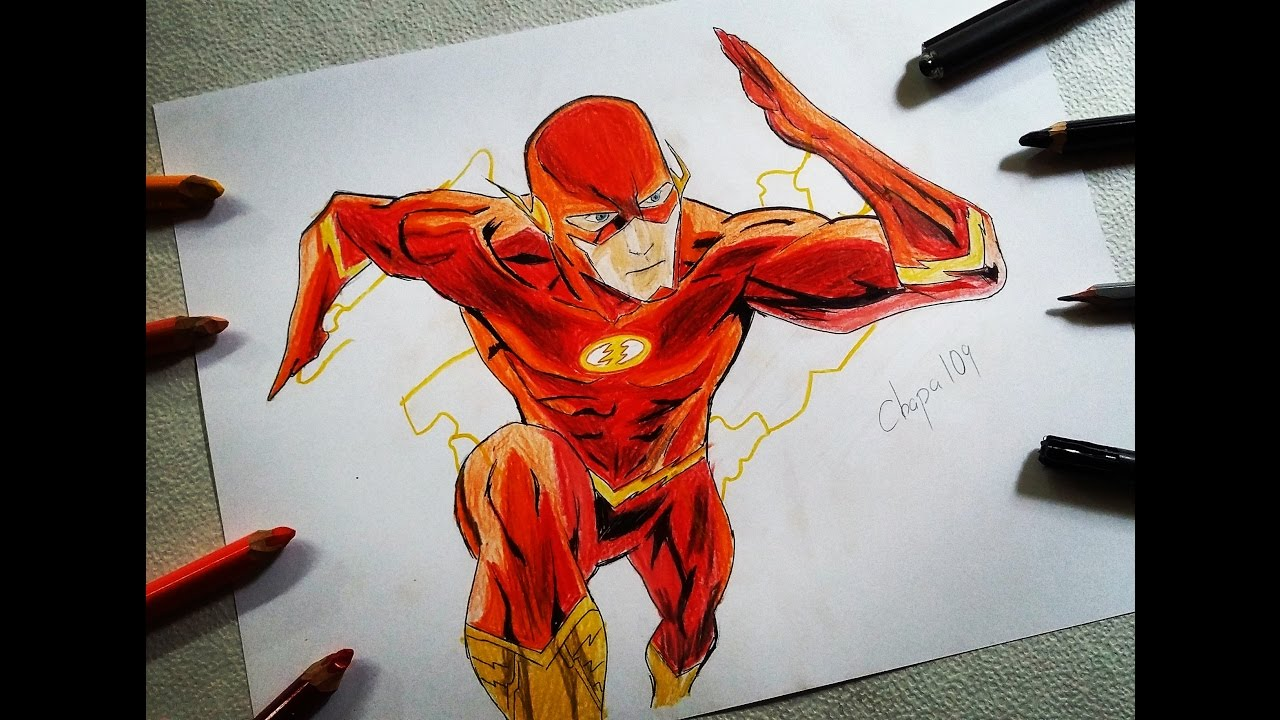 DIBUJO DE FLASH DRAWING FLASH ChaPa109 vs Paco Art  YouTube