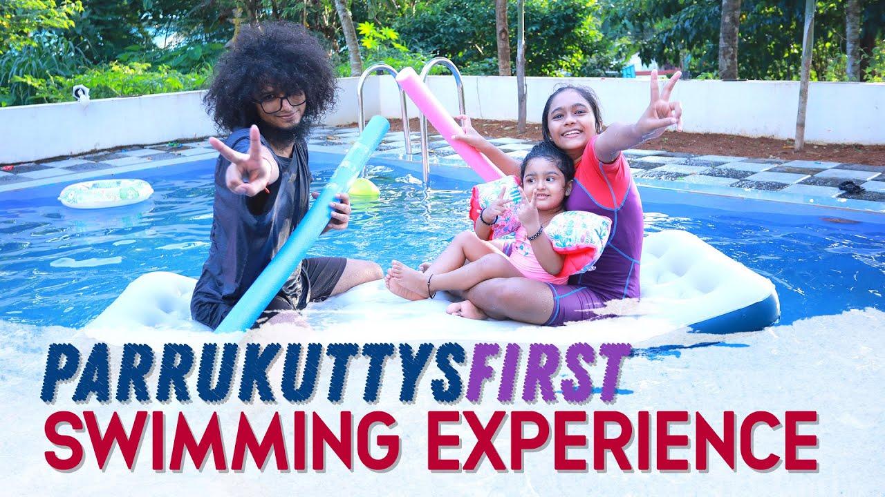 Download Rishi   Shivani   Parrukutty   Parrukuttys First Swimming Experience