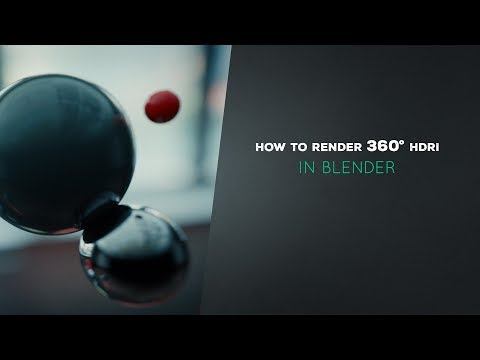 How To Render HDRI In Blender (6/7)