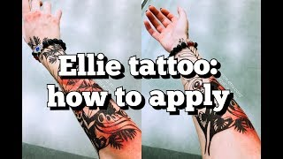 Ellie cosplay tattoo (The Last of Us Part II) - how to apply