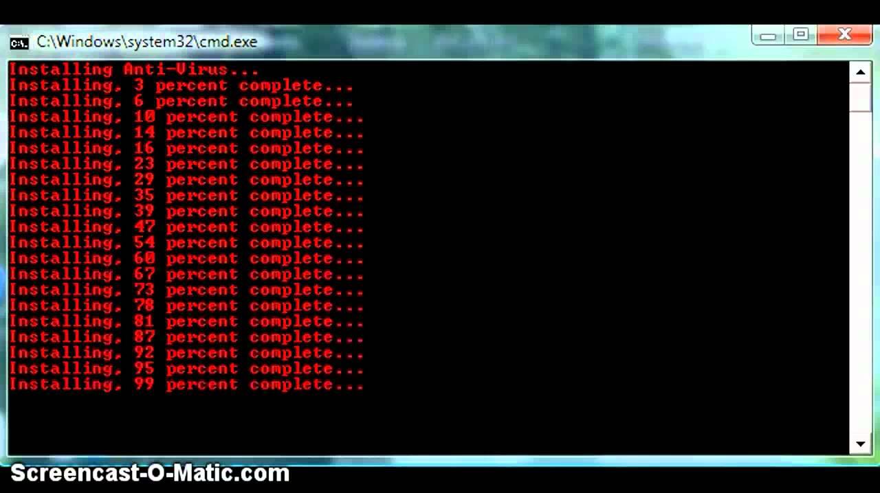 Batch File Prank Fake Virus! Bat Episode 1 - YouTube