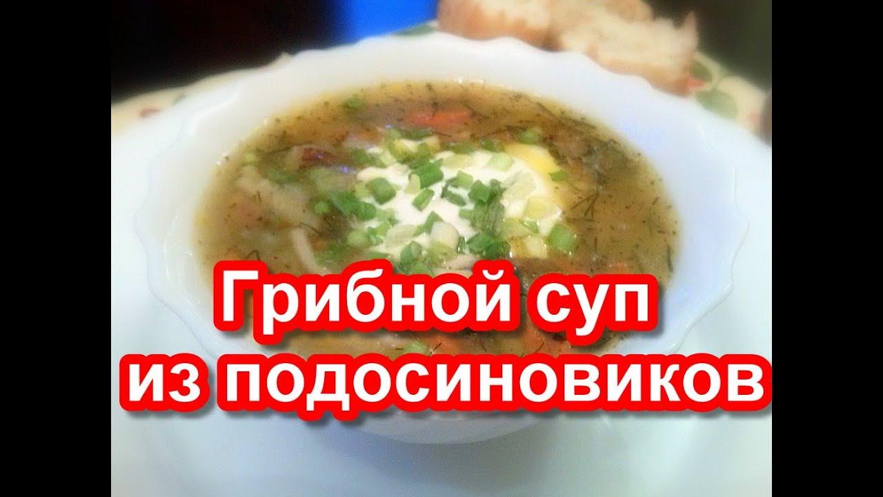 как приготовить вкусный суп из подосиновиков и подберезовиков