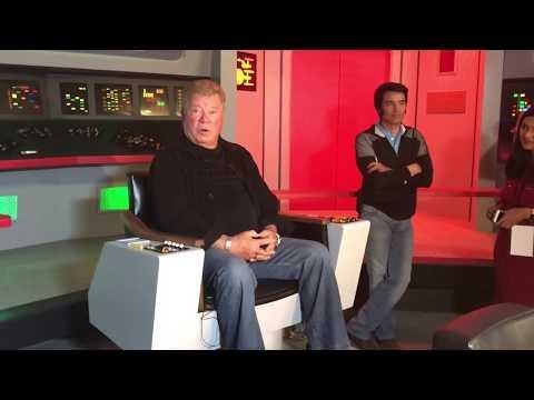 William Shatner at Star Trek: The Original Series Set Tour