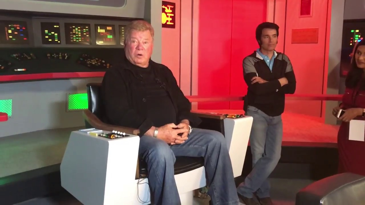 William Shatner at Star Trek The Original Series Set Tour
