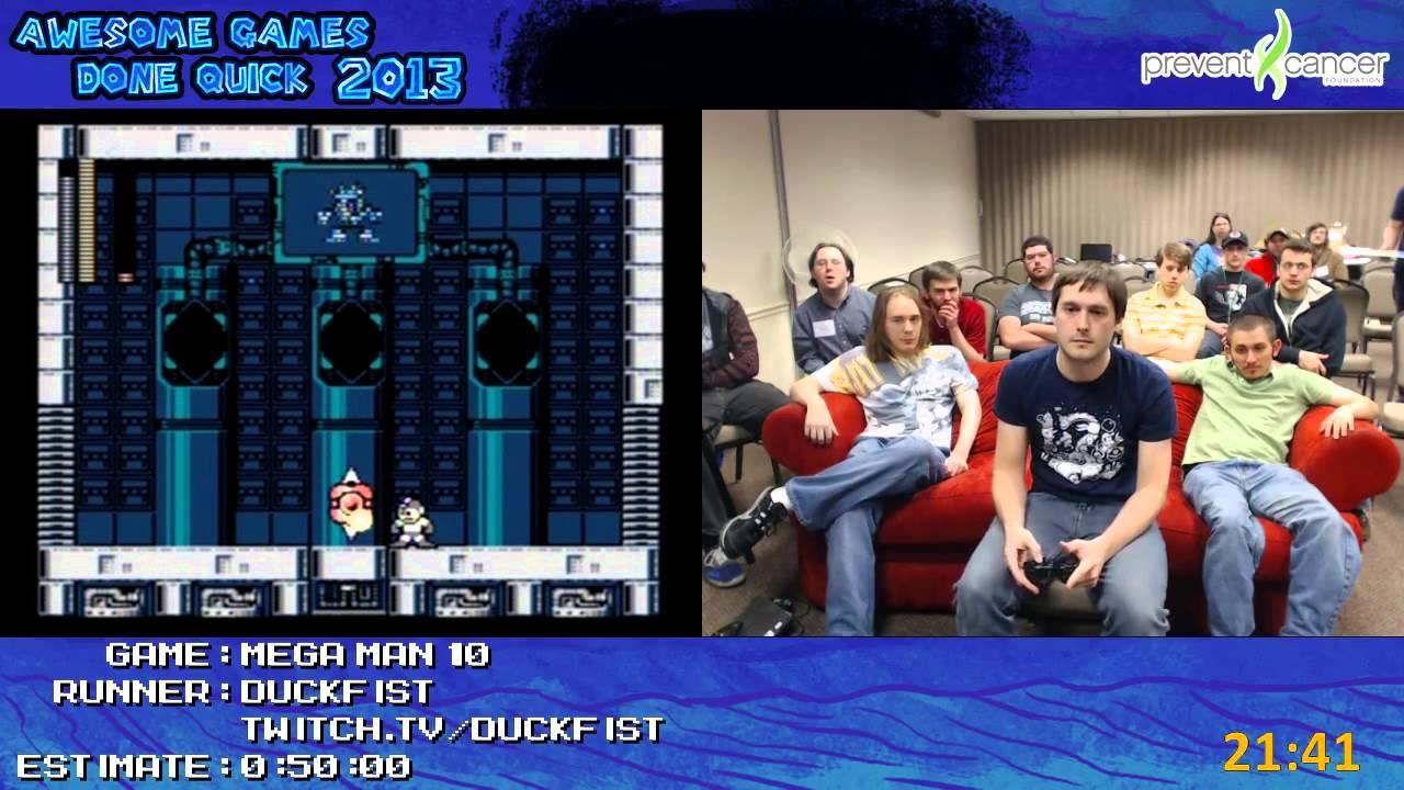Mega Man 10 Speed Run 0 35 48 By Duckfist Live At