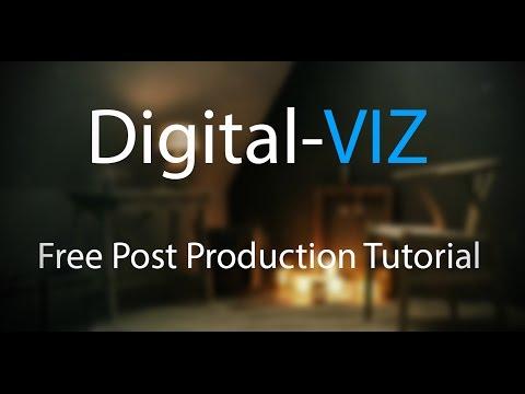 Digital-VIZ Post Production Technique-  Rainy Interior Vintage Mood