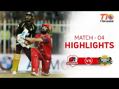Match 4 Highlights, Sindhis vs Kerala Knights, T10 League Season 2