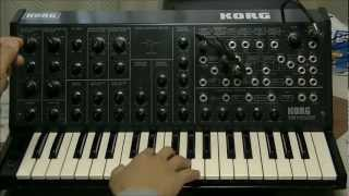 KORG MS-20 SOUND Part 2/6 - Modulation Gnerator & Envelope Generator