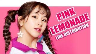 [TWICE] PINK LEMONADE - LINE DISTRIBUTION [COLOR CODED]