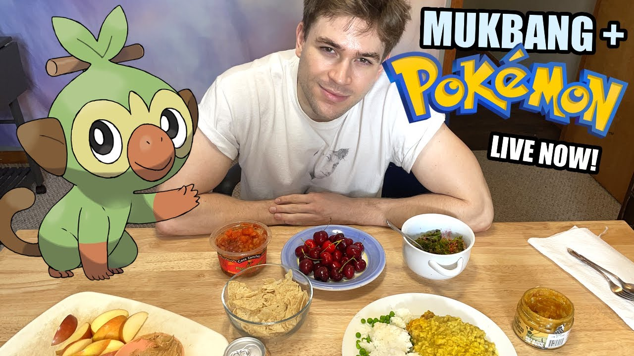 COME EAT & PLAY POKEMON WITH ME ON TWITCH!
