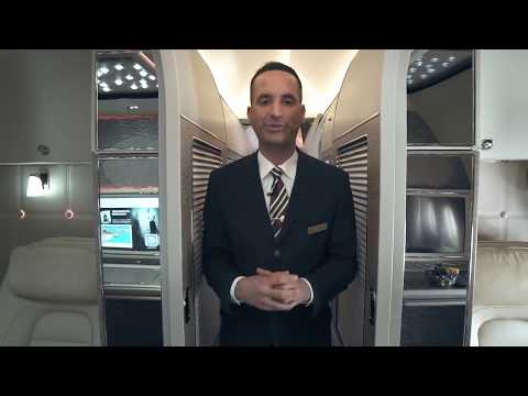 First Class, Business & Cabin Tour, Boeing 777, Emirates Airline - Unravel Travel TV
