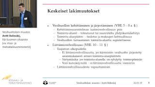 Vesihuoltolain muutos, Antti Belinskij, Itä-Suomen yliopisto