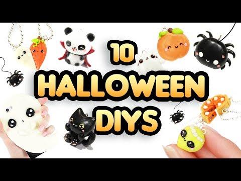 HALLOWEEN DIY COMPILATION -10 Cute Clay ideas! 👻