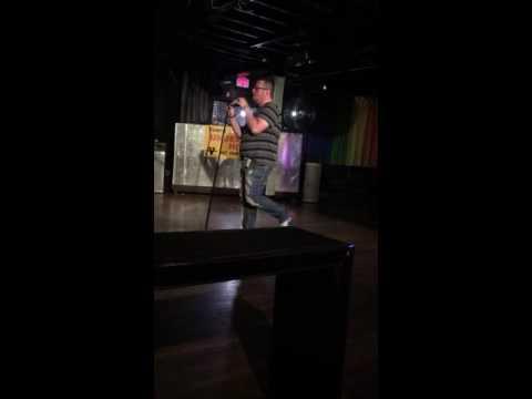 Lonny doing karaoke