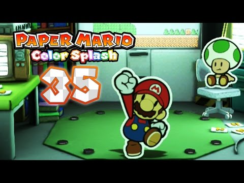 Paper Mario: Color Splash - Part 35: Green Energy Plant!