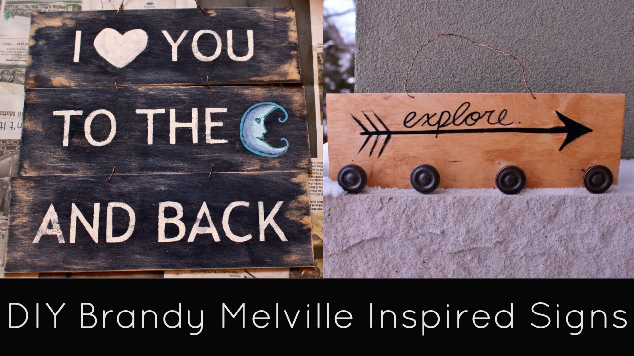 DIY Brandy Melville Inspired Room Decor Signs Grace&TJ YouTube