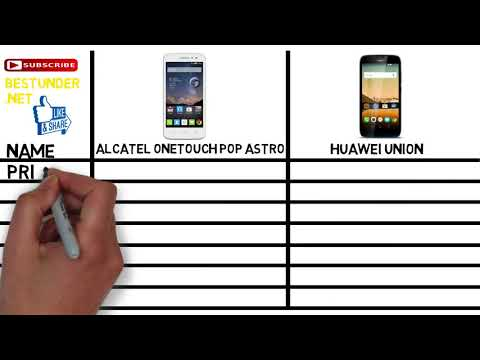 SMARTPHONE #50$ Best Cell Phones Under $50 [ Huawei Union Vs Alcatel Astro ]