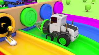 Children kids Vehicles Toy Assembly Car VS School Bus Soccer Ball with Learn Colors for Kids 21