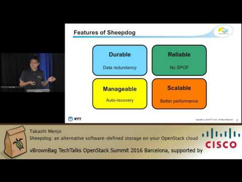 2016 OpenStack Barcelona - Takashi Menjo - Sheepdog an alternative software defined storage