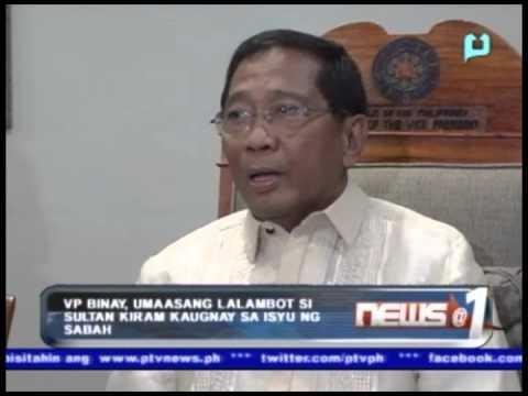 VP Binay, umaasang lalambot si Sultan Kiram kaugnay sa isyu ng Sabah
