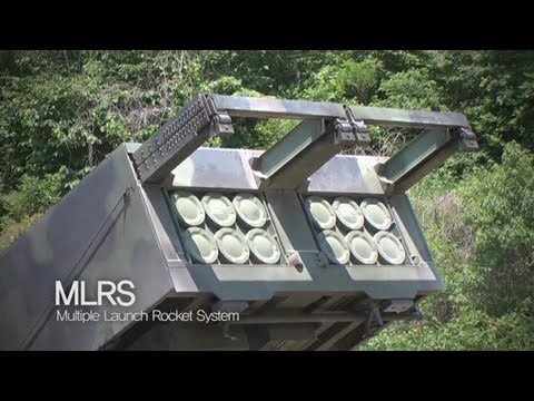 ROK Ministry Of National Defense - M270 Multiple Launch Rocket System (MLRS) Live Firing [720p]