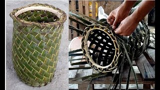 How to weave a coconut leaf basket - Part 1