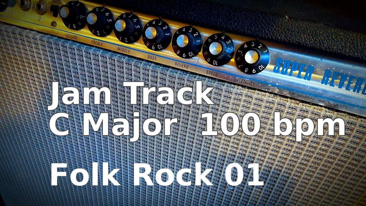 Folk Rock Jam Track in C Major