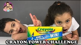 CRAYON TOWER CHALLENGE: Challenges For Kids/ 4 Kids Toy Review