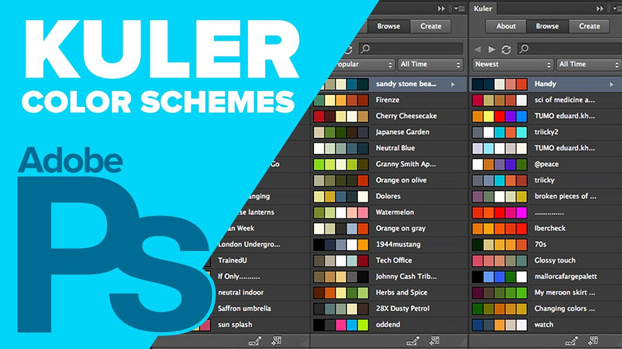 Color Schemes How To Create Color Schemes Using Kuler In Photoshop  Youtube