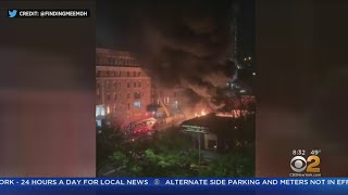 Rubbish Fire Burns In Harlem