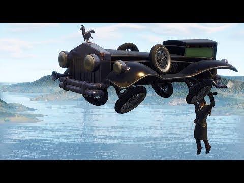 Fortnite new glider gameplay,VICEROY MARK 1 - Car glider,Rolls-Royce