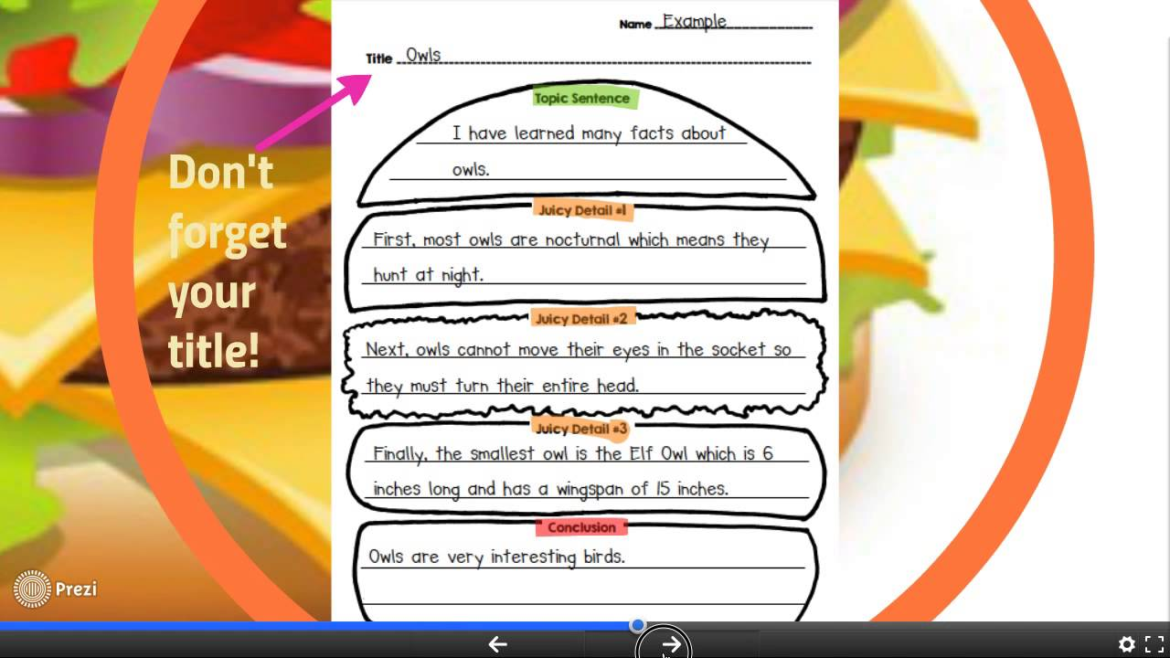 small resolution of Hamburger Paragraph Writing in Second Grade - YouTube