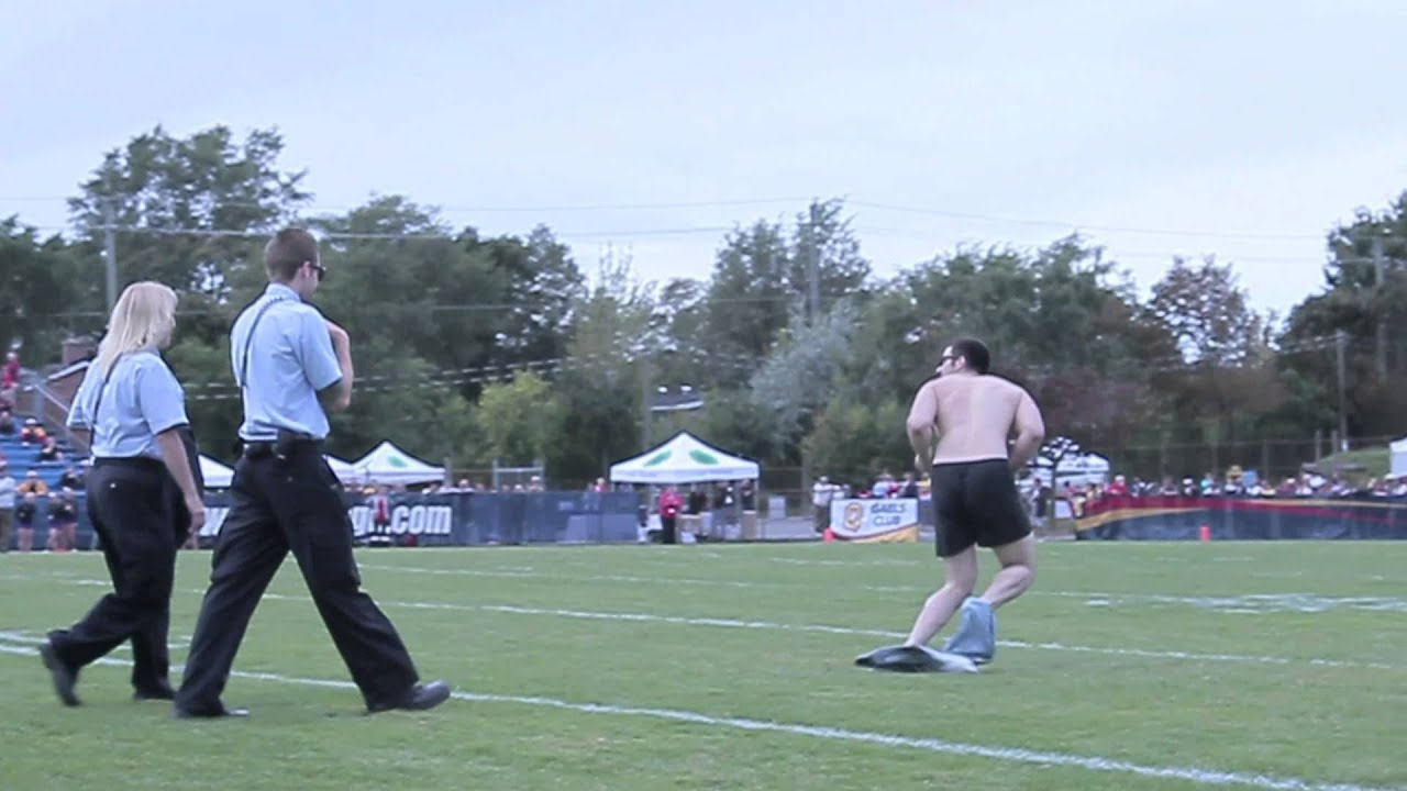 Funny Video: Football Streaker Fail