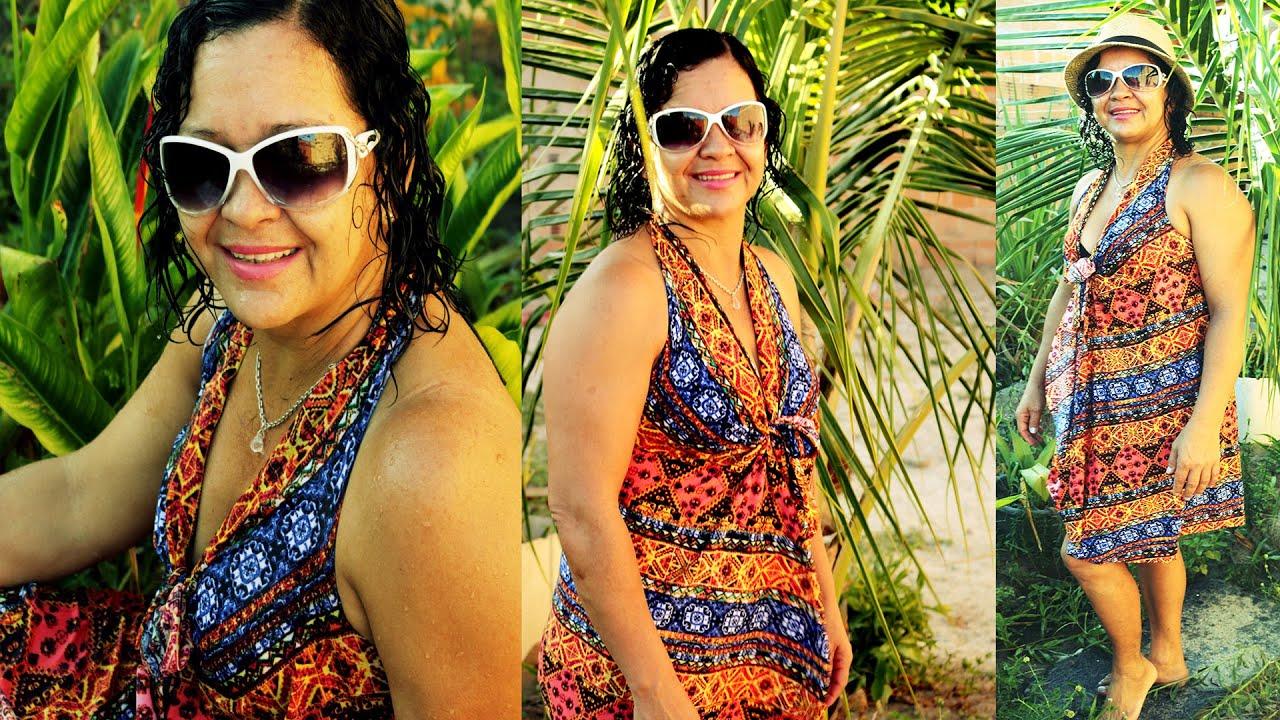 b0e250b1512c Saída de Praia- Canga [SEM COSTURA] - YouTube