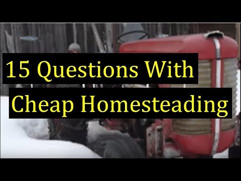 15 Questions with Cheap Homesteading